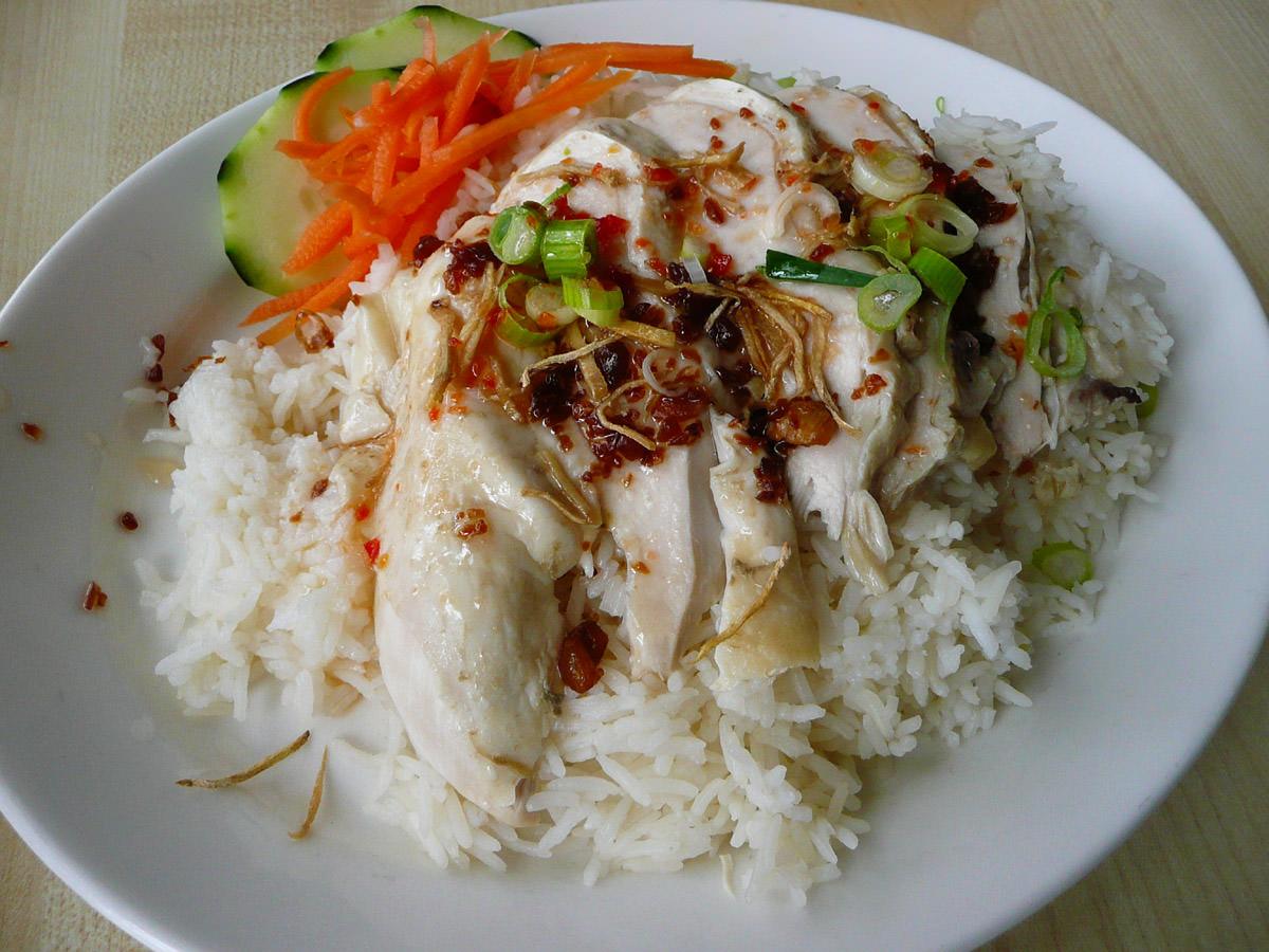 Steamed chicken rice