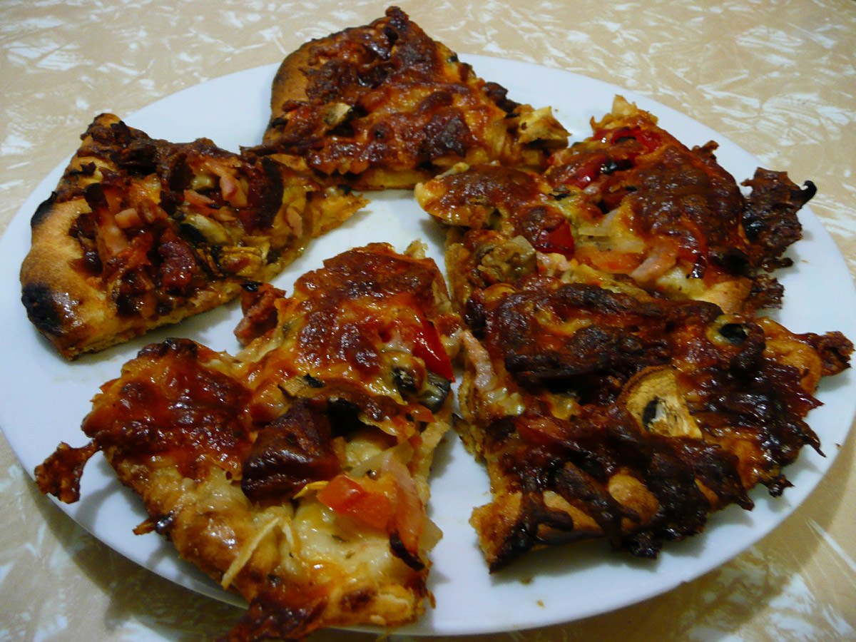 Plate of pizza