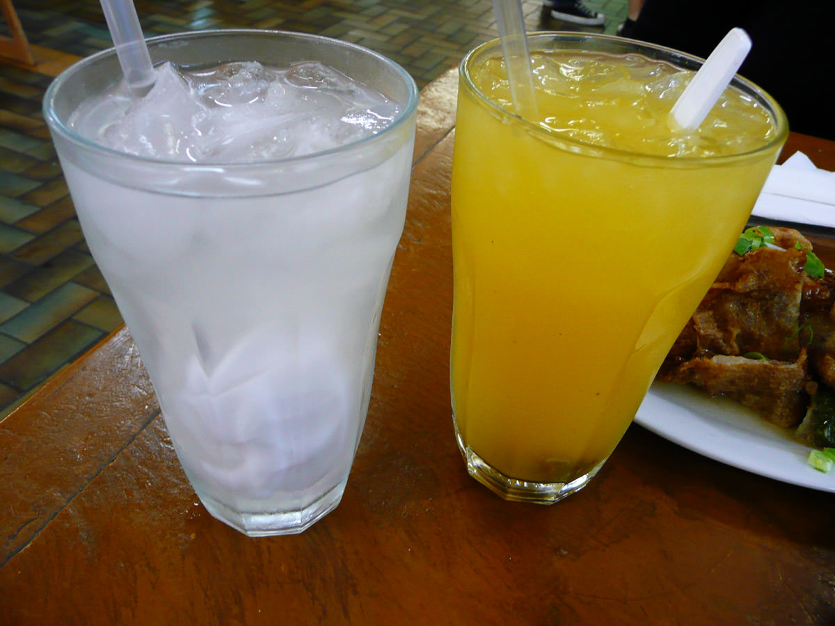 Coconut juice and citrus juice with dried plum
