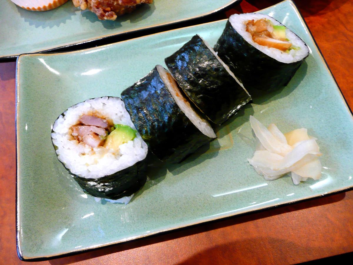Teriyaki chicken sushi