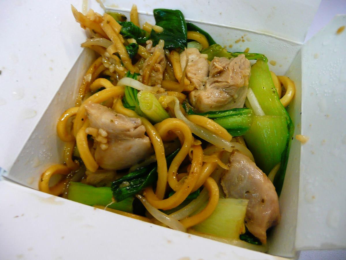 Thai garlic chicken noodles