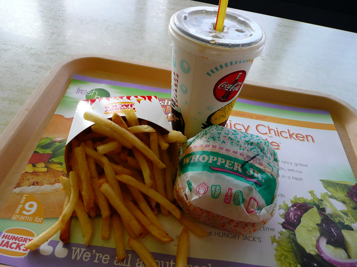 Hungry Jack's Whopper Junior Meal