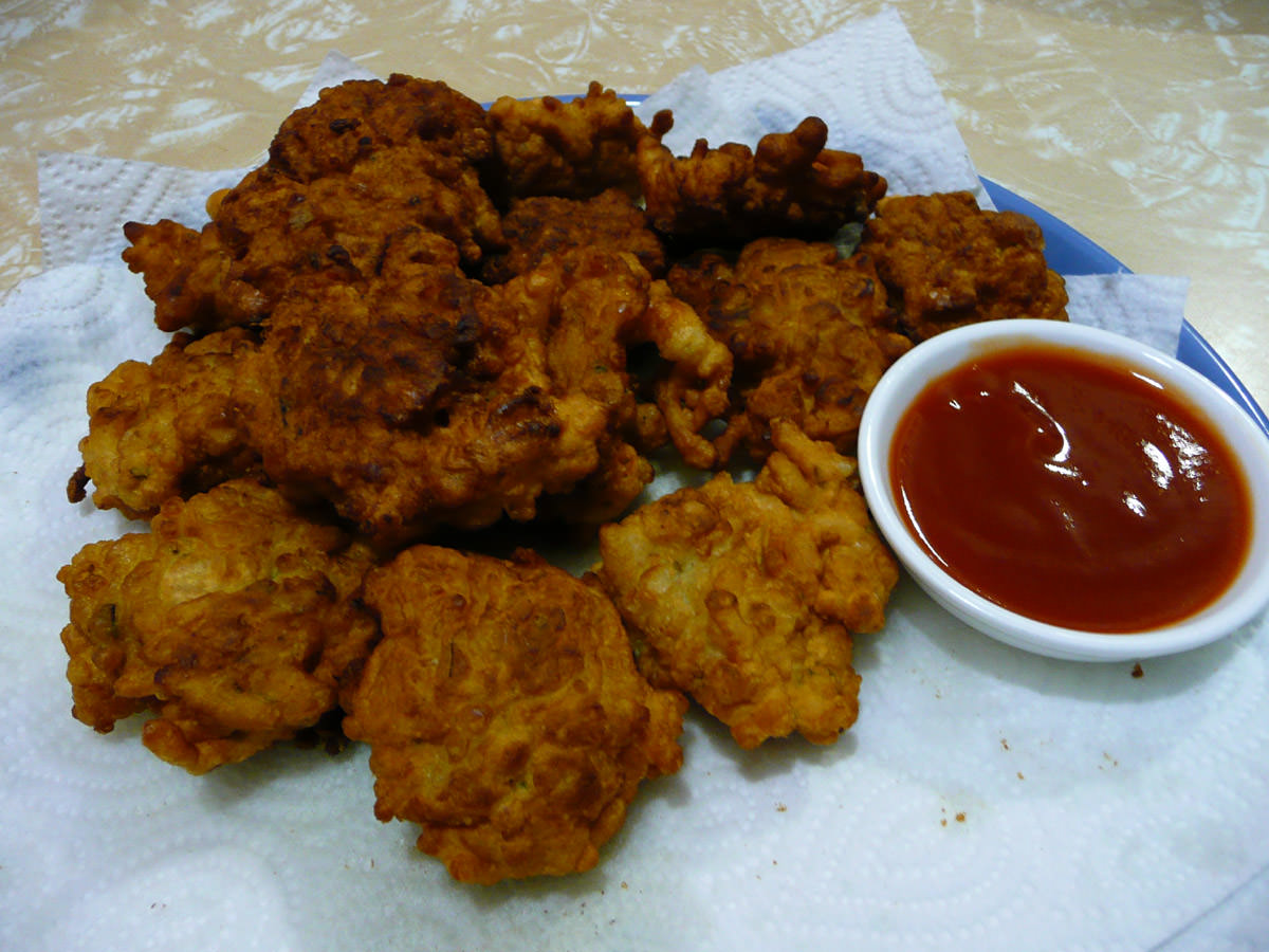 Chicken and noodle fritters
