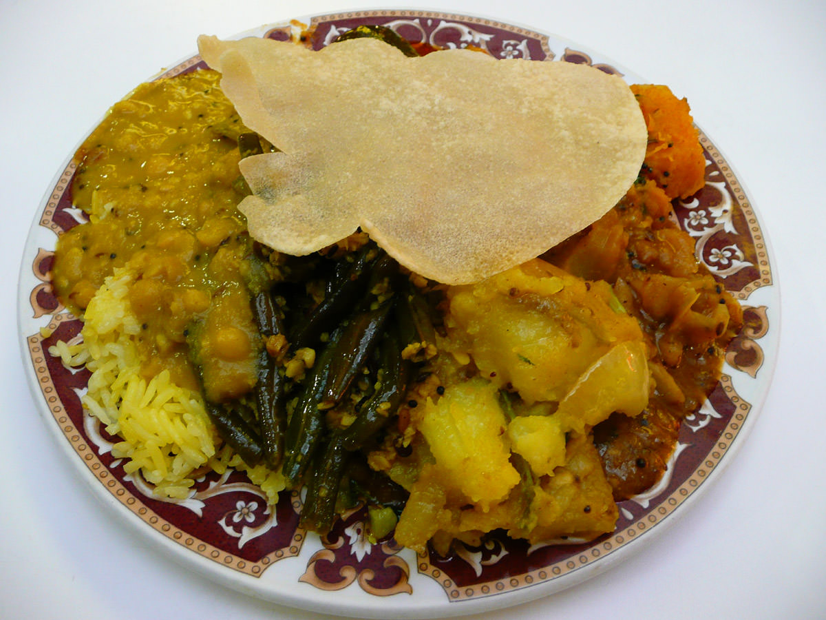 Indian vegetarian combination