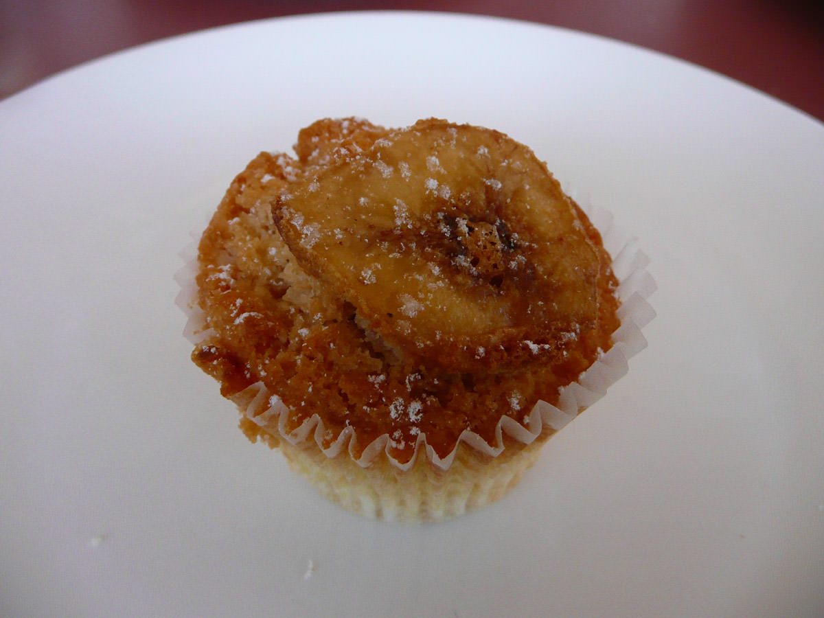 Banana and coconut mini muffin