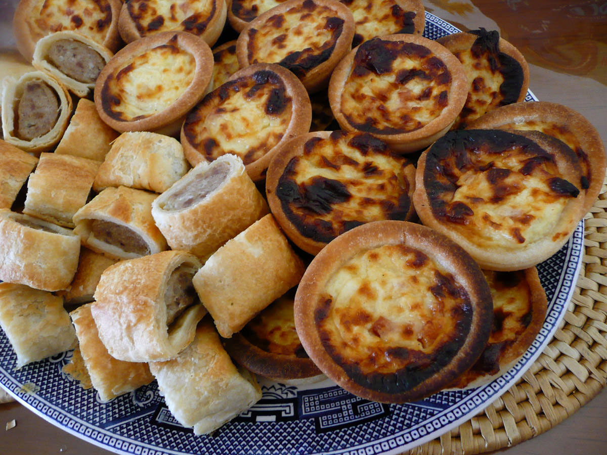 Sausage rolls and quiches