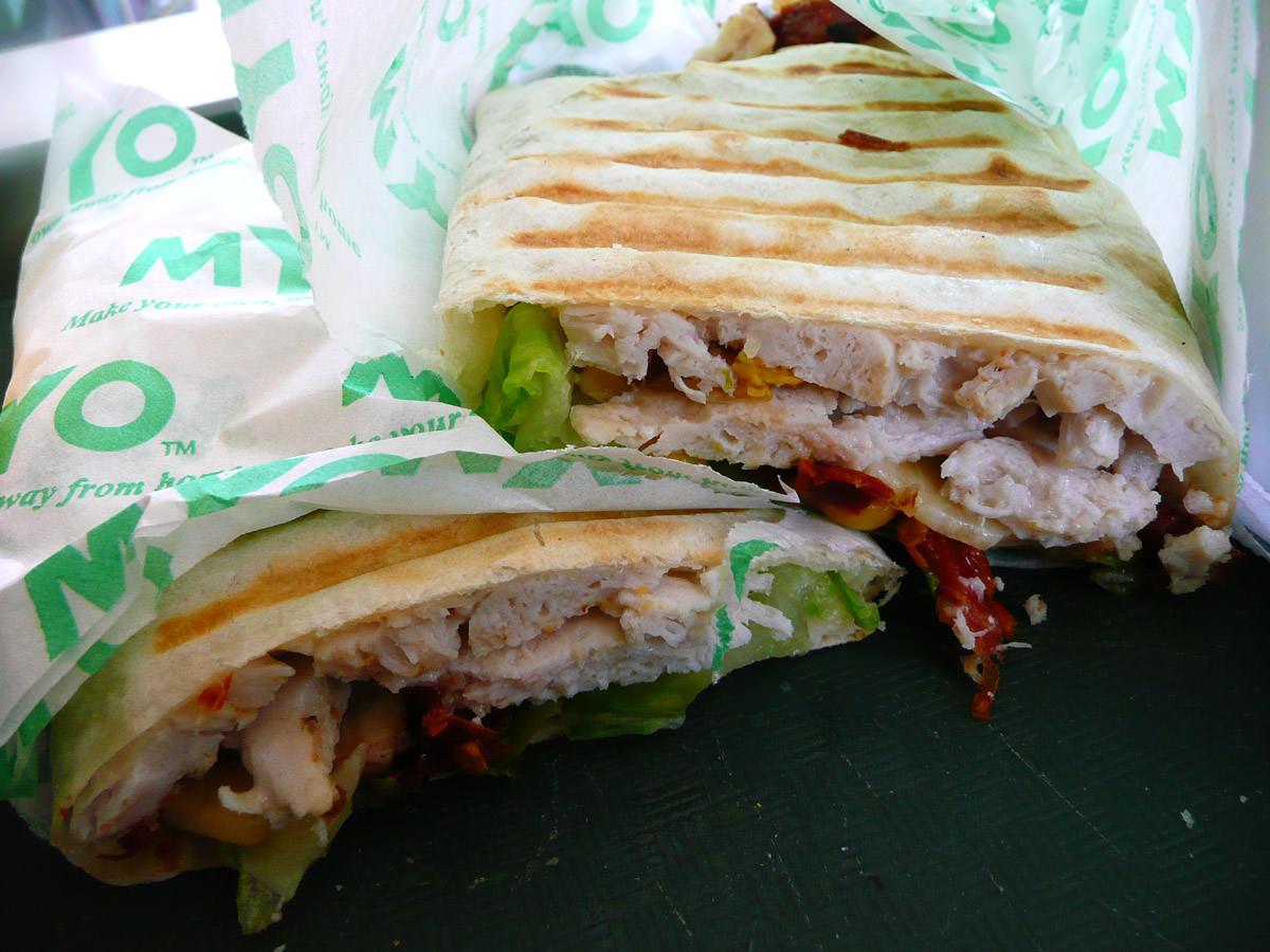 Chicken wrap from MYO