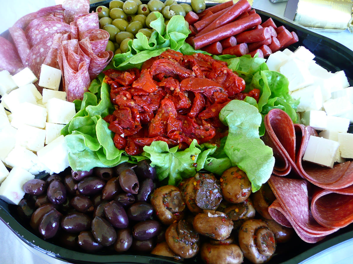 Antipasto platter from Woolworths