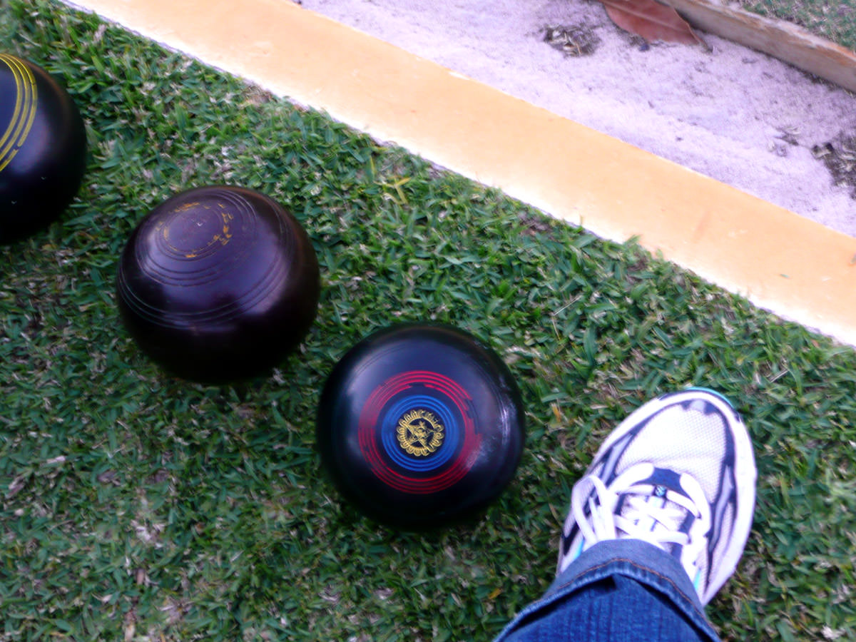 Bowls and my foot