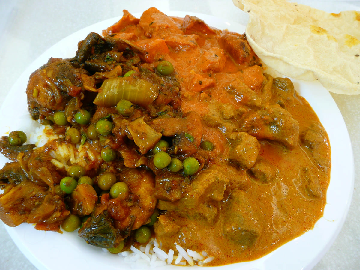 Large curry combination