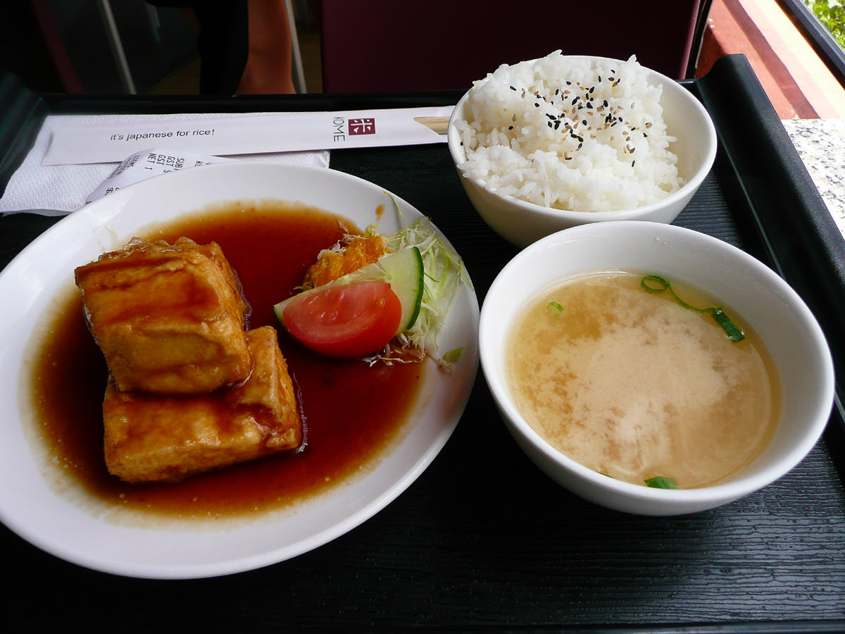 Teriyaki tofu meal