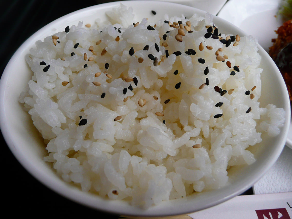 Sesame-studded rice