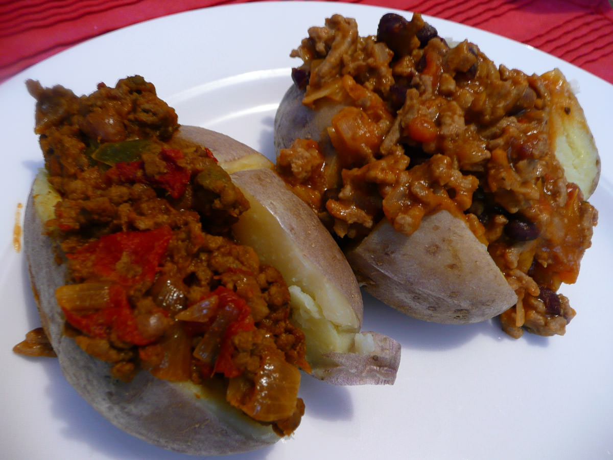 Stuffed potatoes - Mexican mix