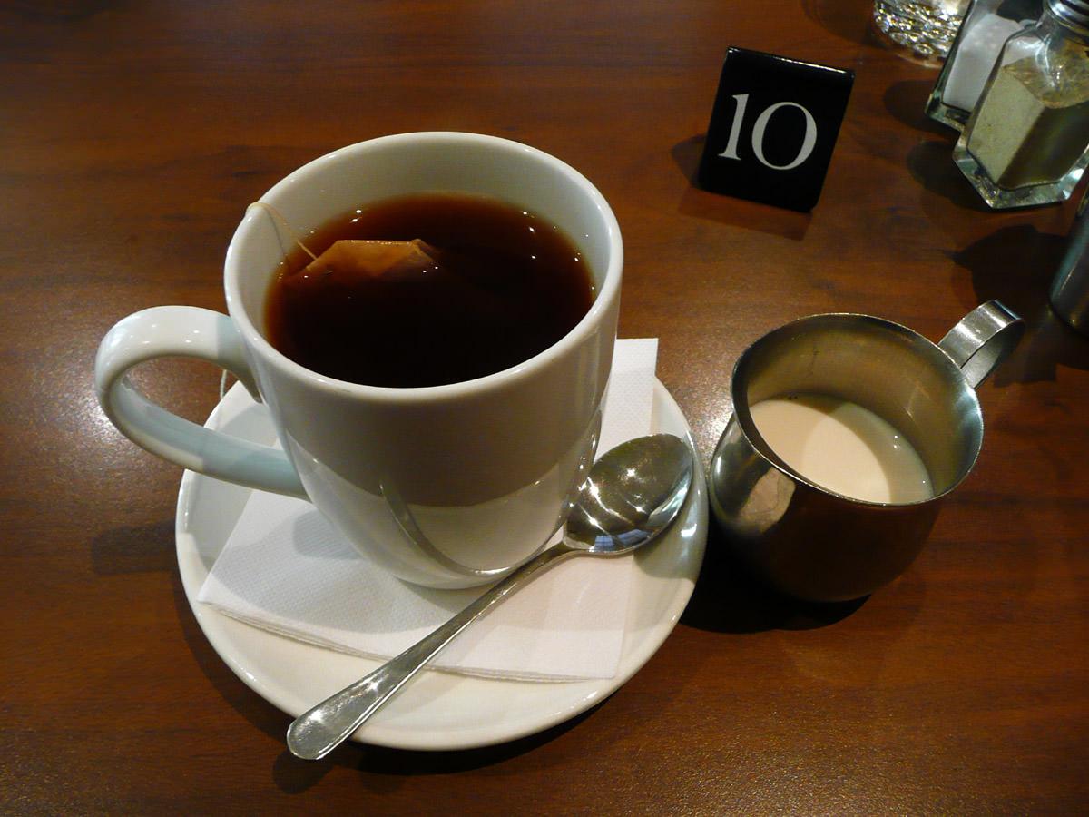 English Breakfast Tea and soy milk