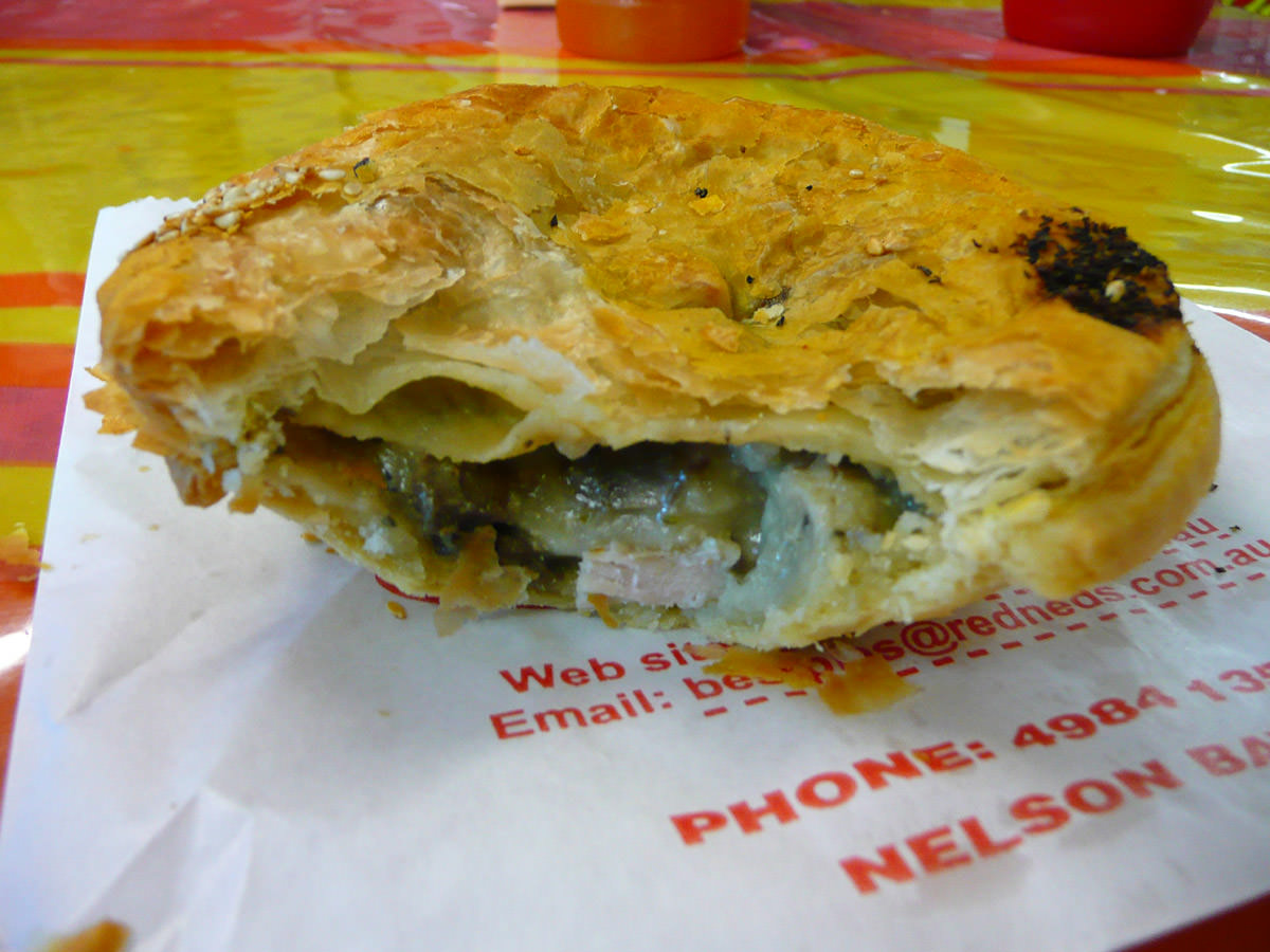 Chicken and mushroom pie innards