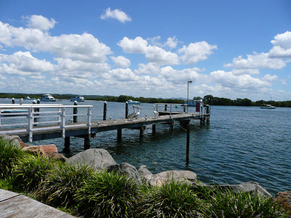 View of the jetty from our table