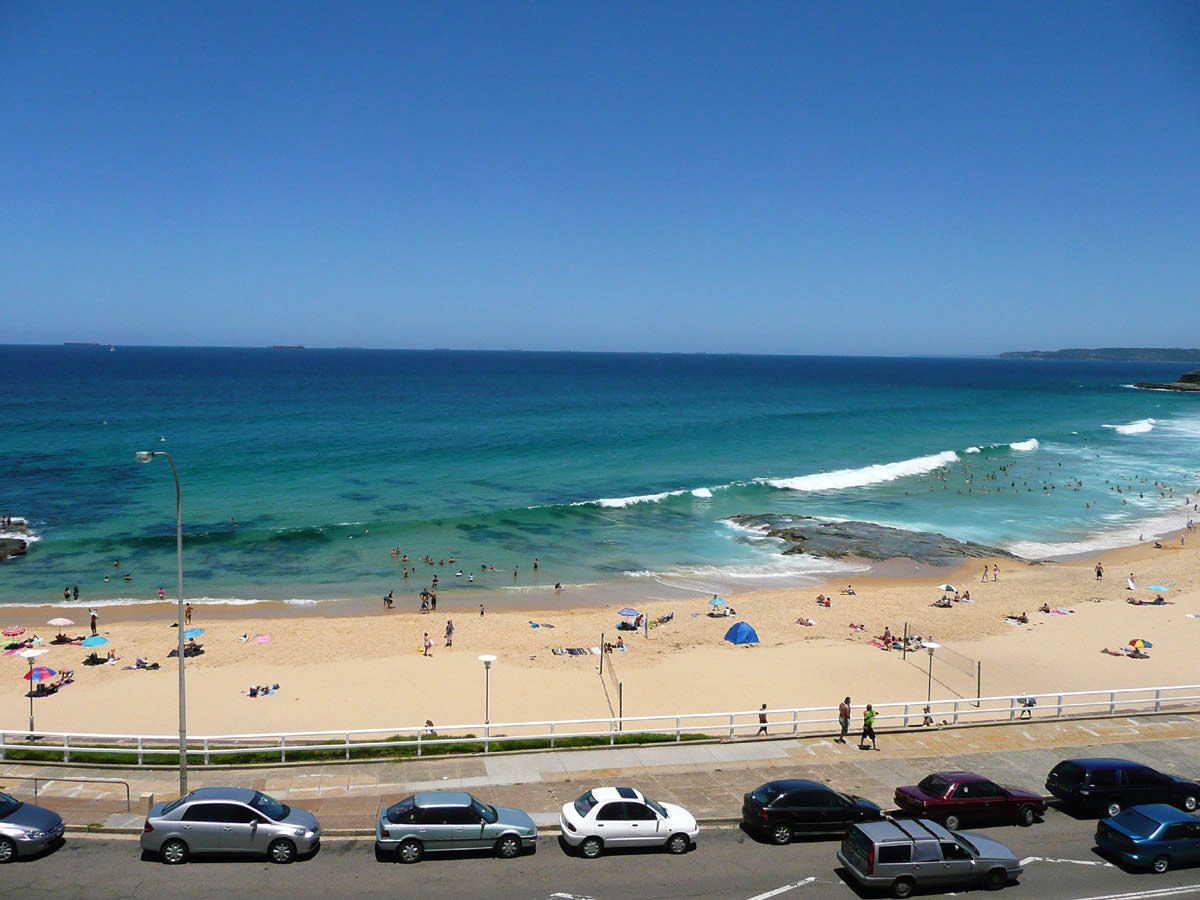 View of Newcastle Beach