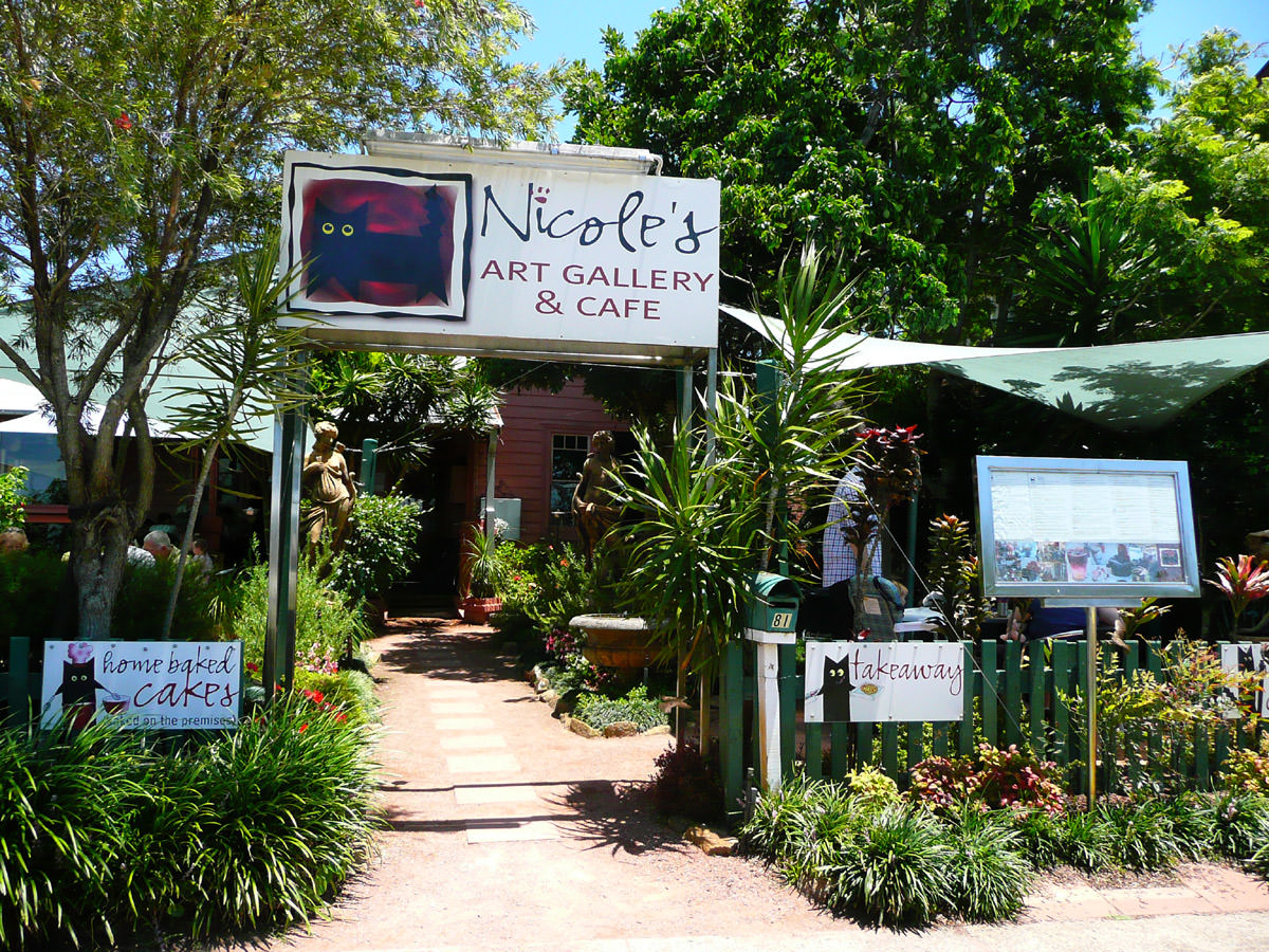Nicole's Gallery and Cafe entrance