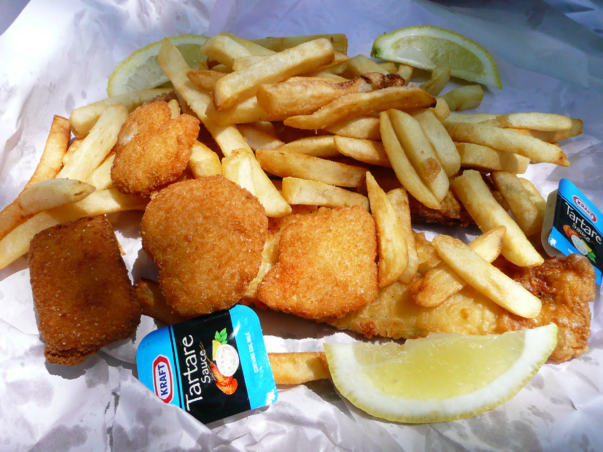 Fish and Chips from J0hn Dory's Seafood, Nelson Bay