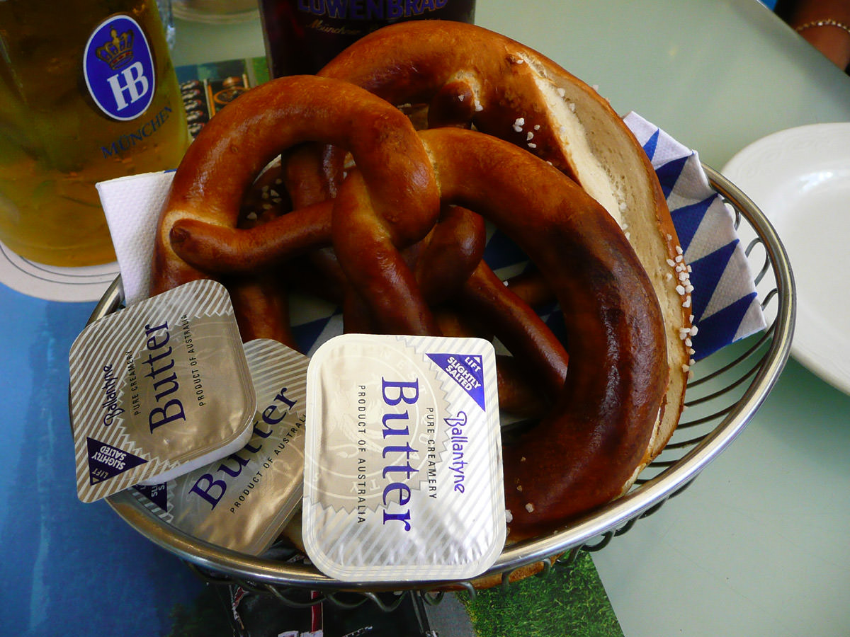 Basket of pretzels