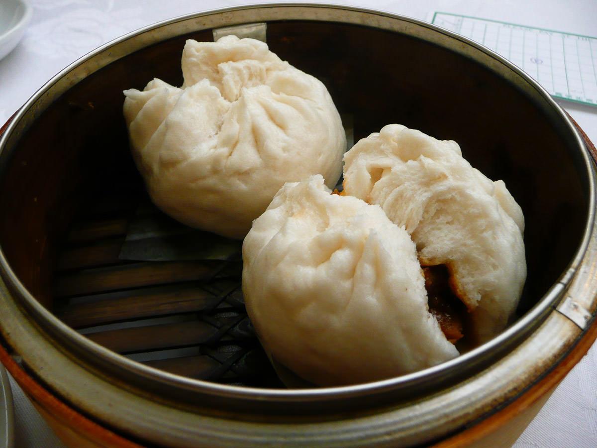 Char siu pao (BBQ pork steamed buns)