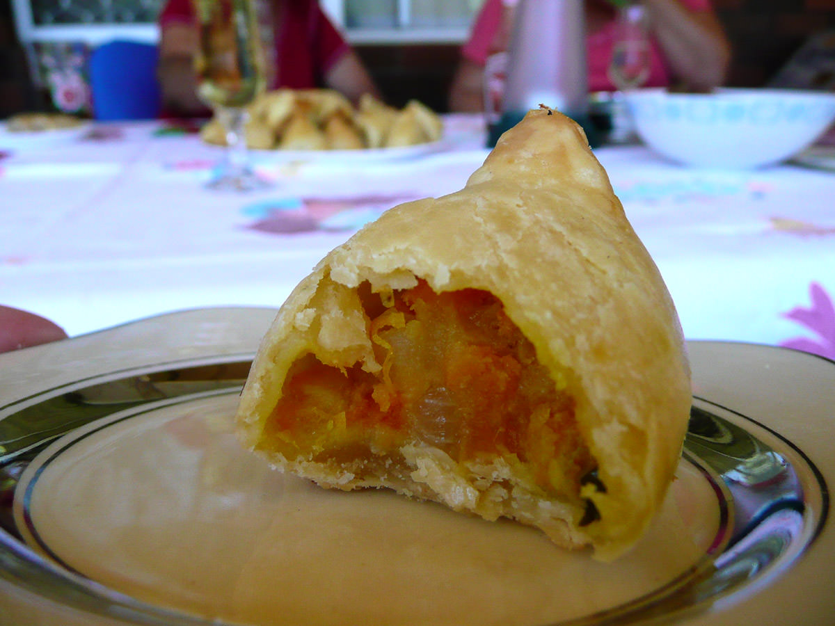 Potato samosa innards