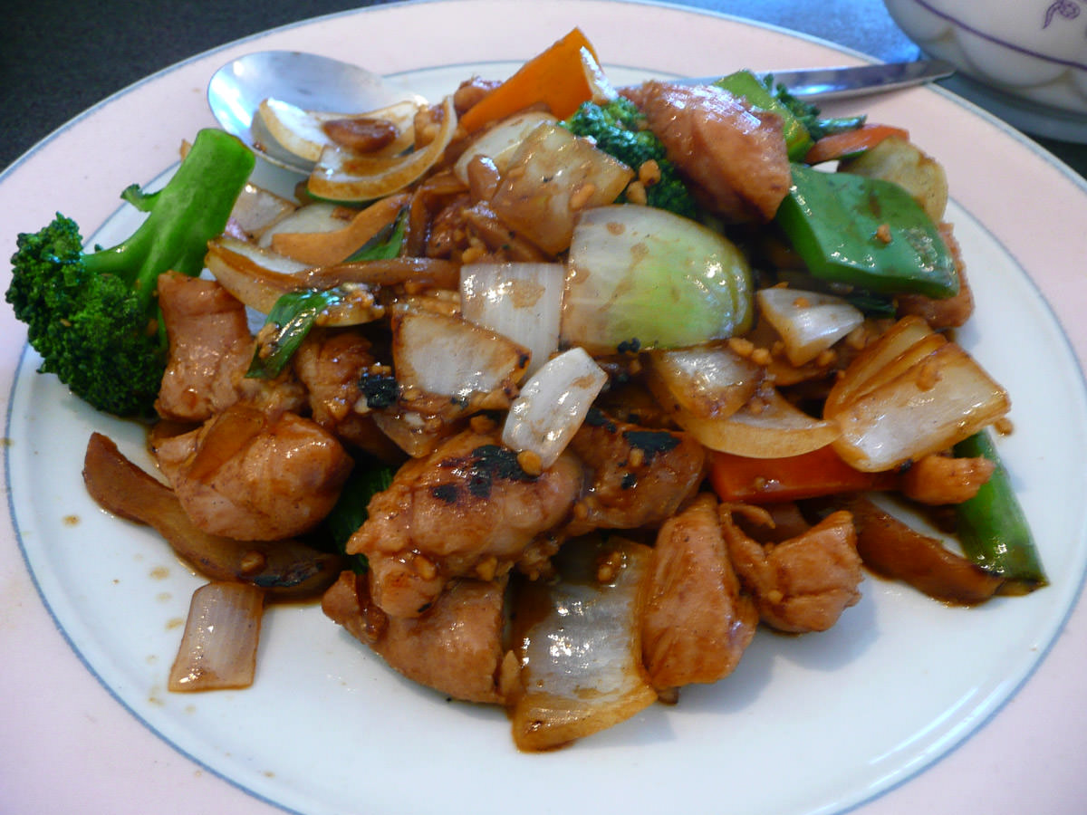 Chicken braised with ginger