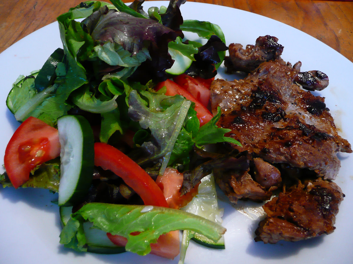 Turkey steak and salad