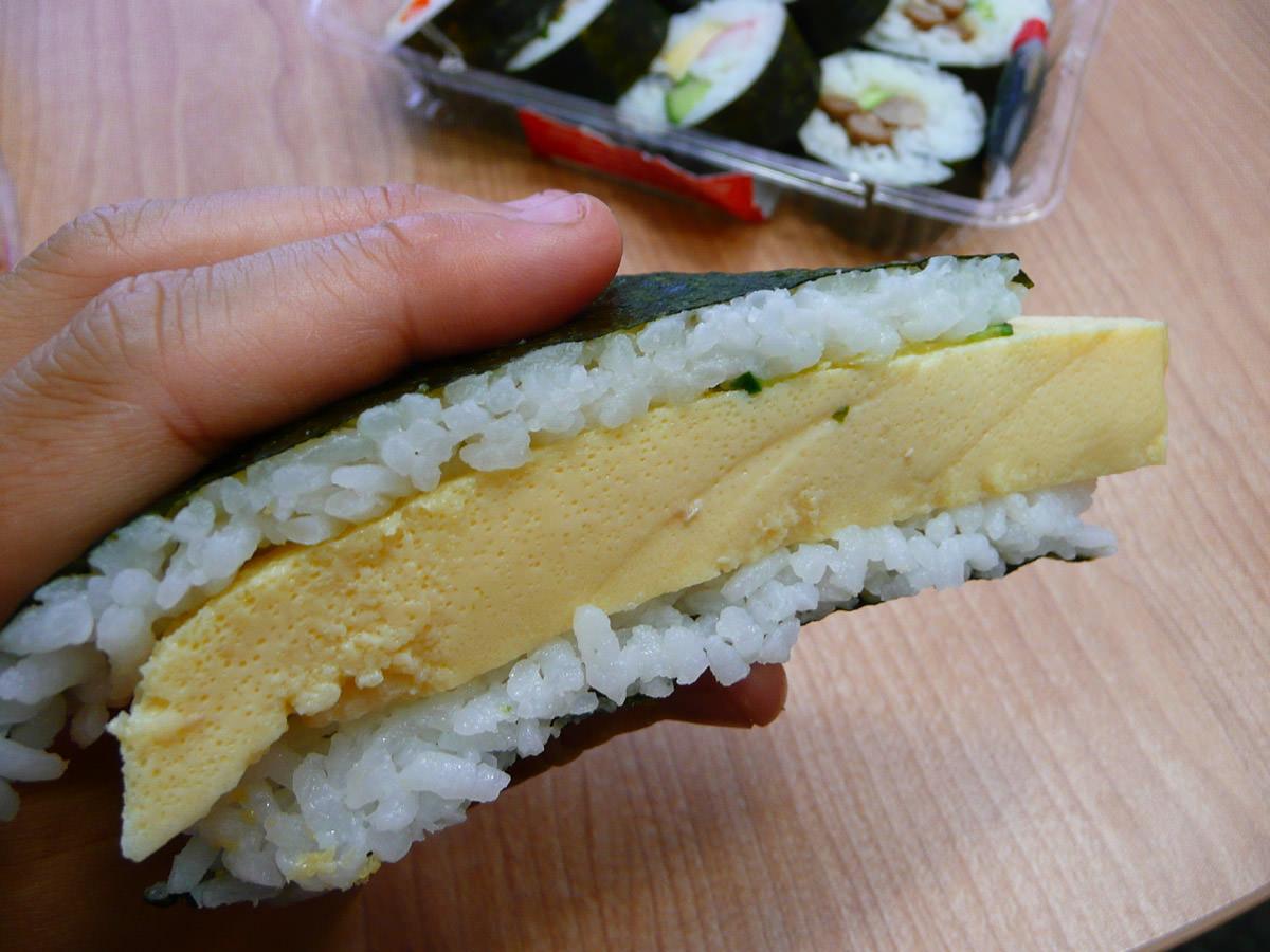 Tamago sushi sandwich
