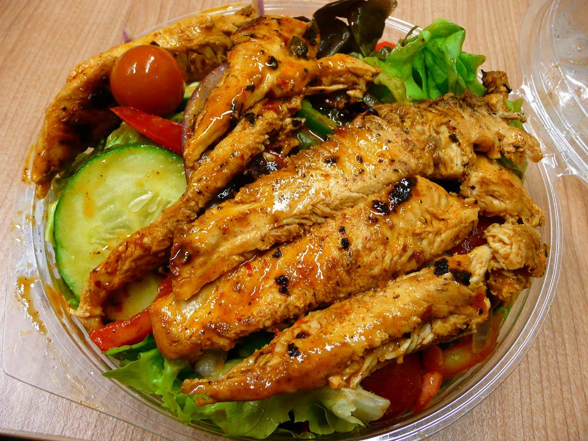Garden salad with chicken - hot