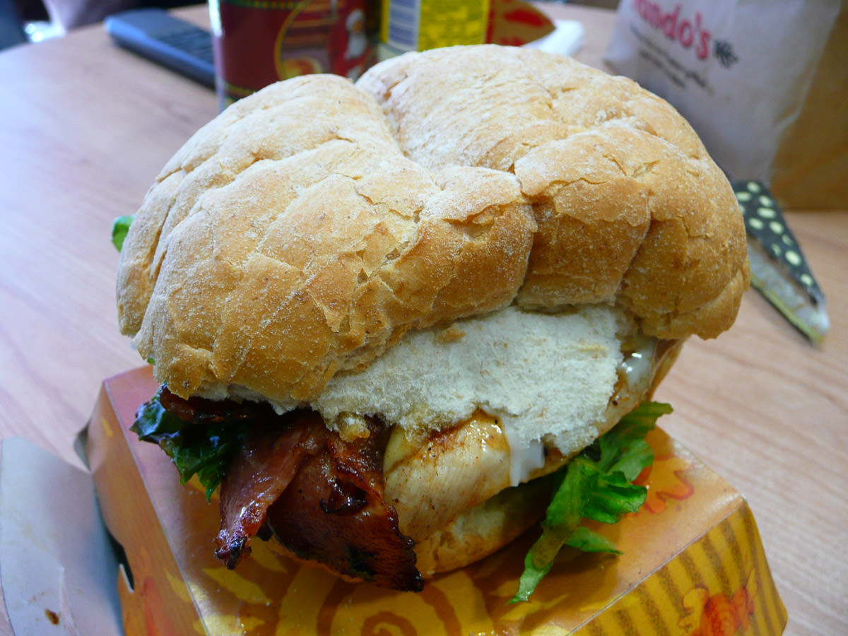 Chad's Supremo Chicken Burger with avocado, bacon and cheese