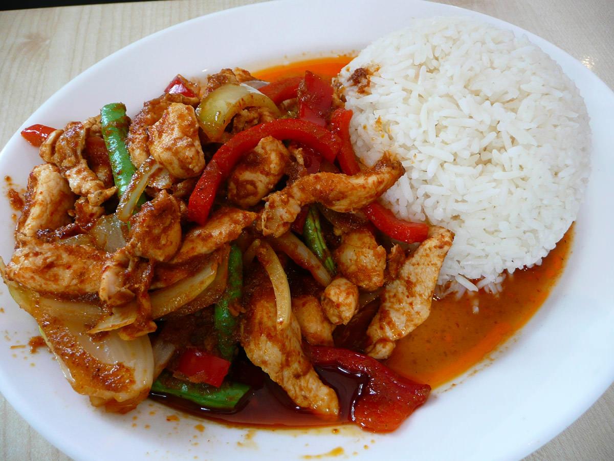 Chilli chicken rice