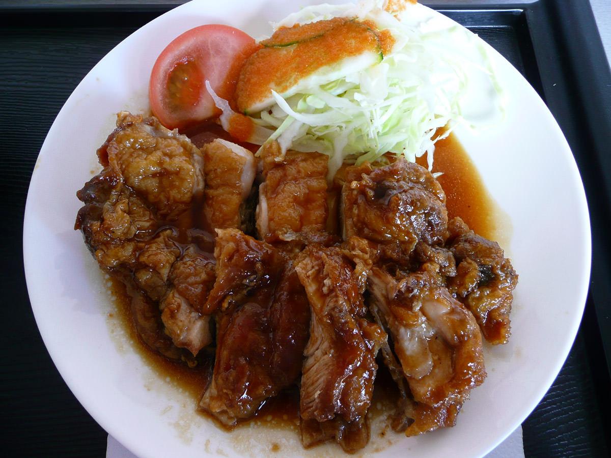 Teriyaki chicken and salad