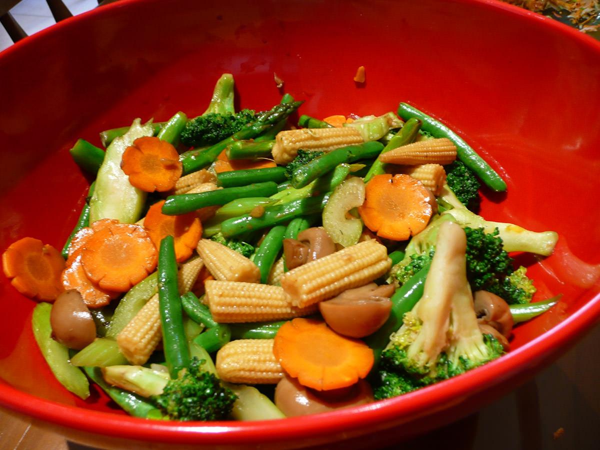 Stir-fried vegies
