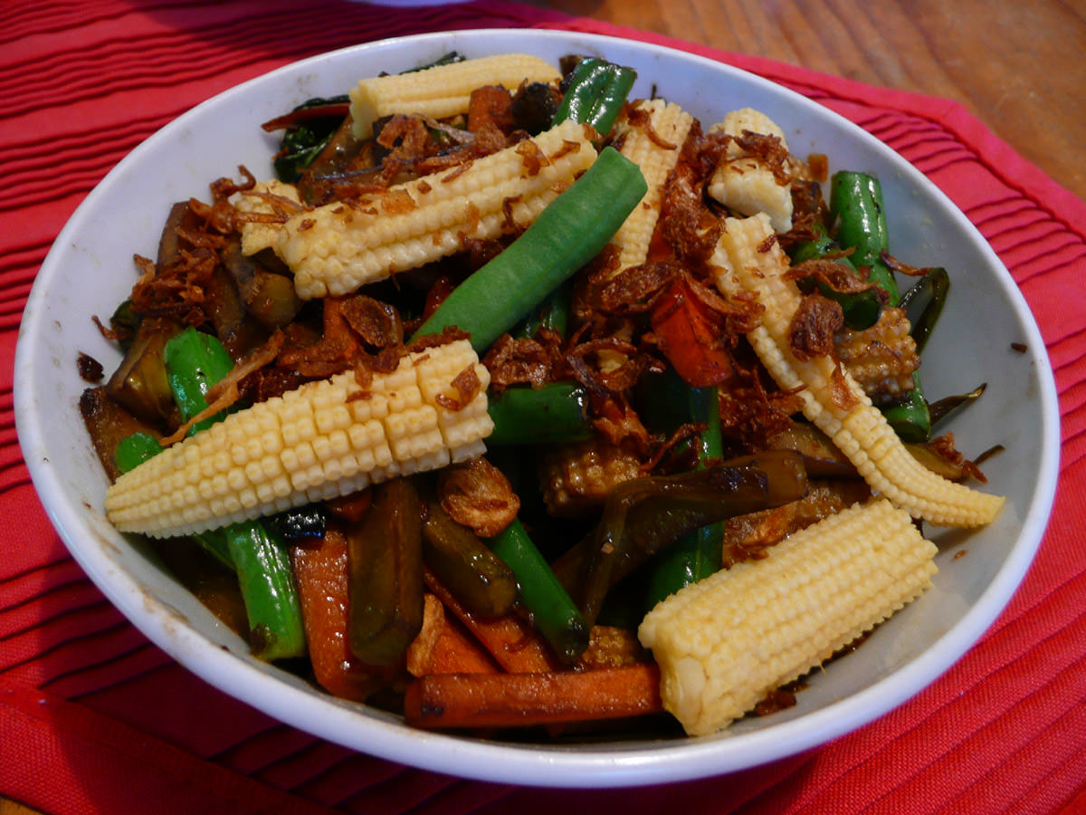 Stir-fried vegies