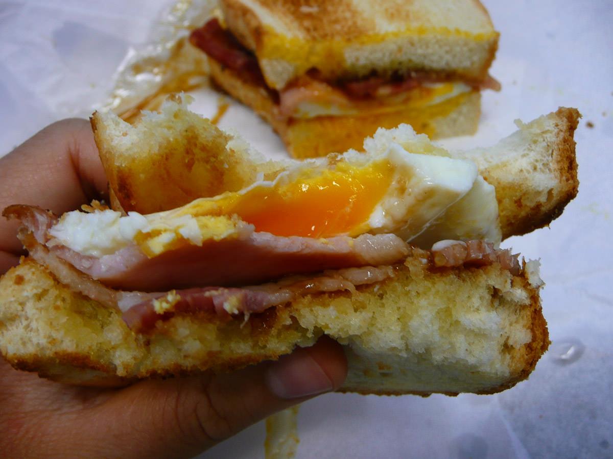 Gooey egg yolk