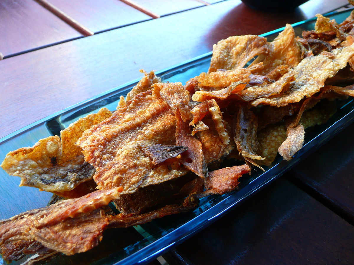 Fried dried fish