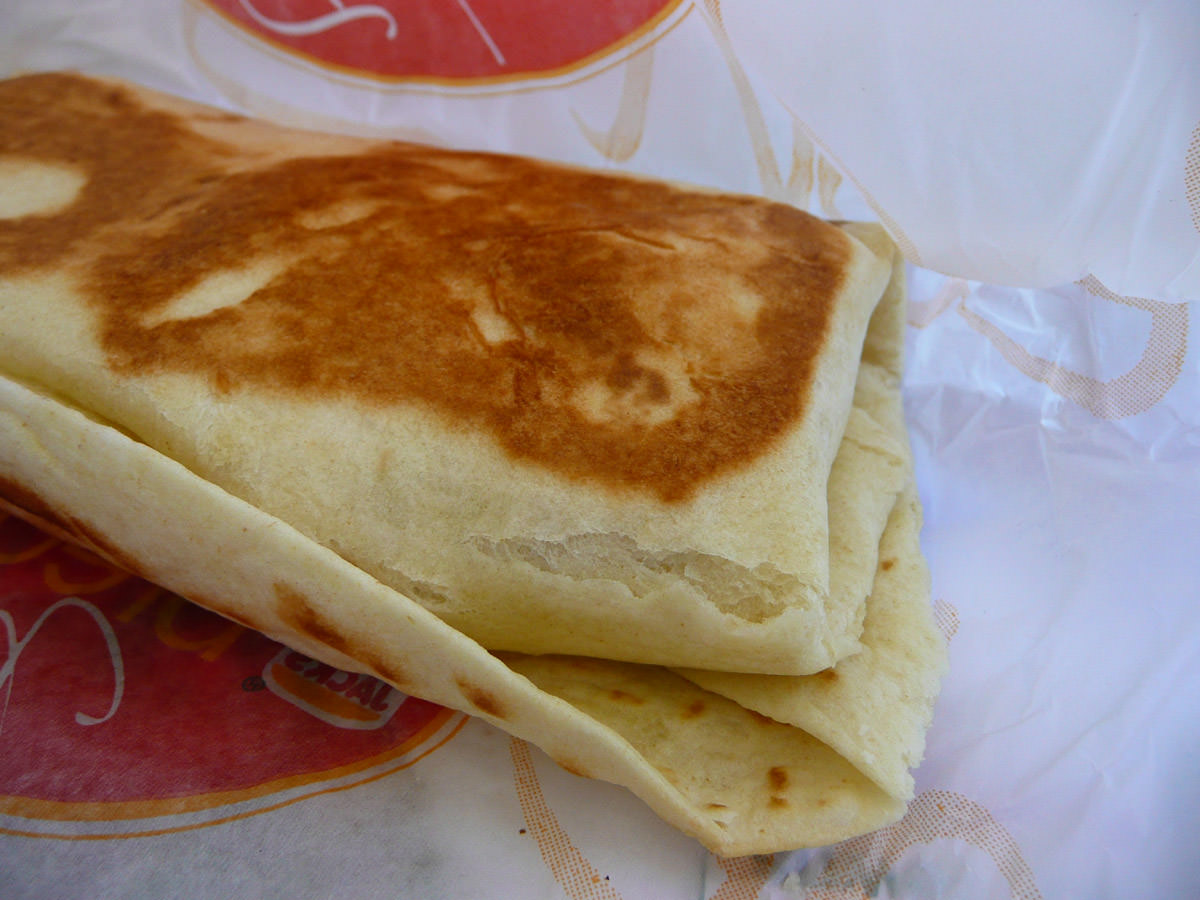 Cheesy omelette wrap