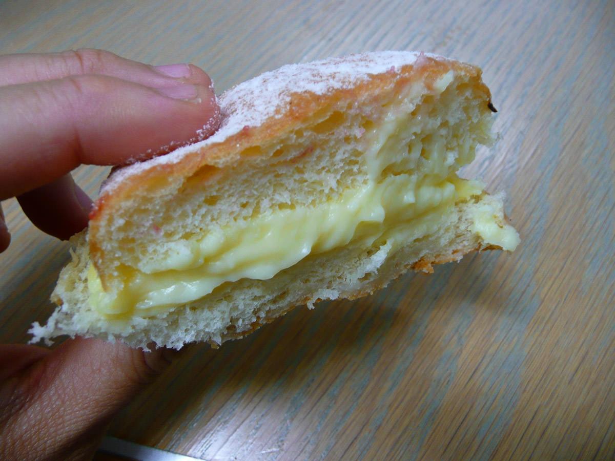 Custard donut innards