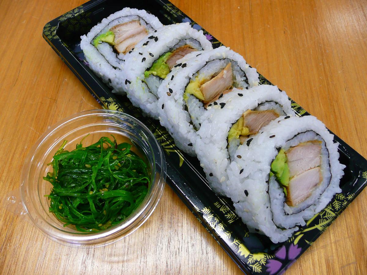 Sushi and seaweed