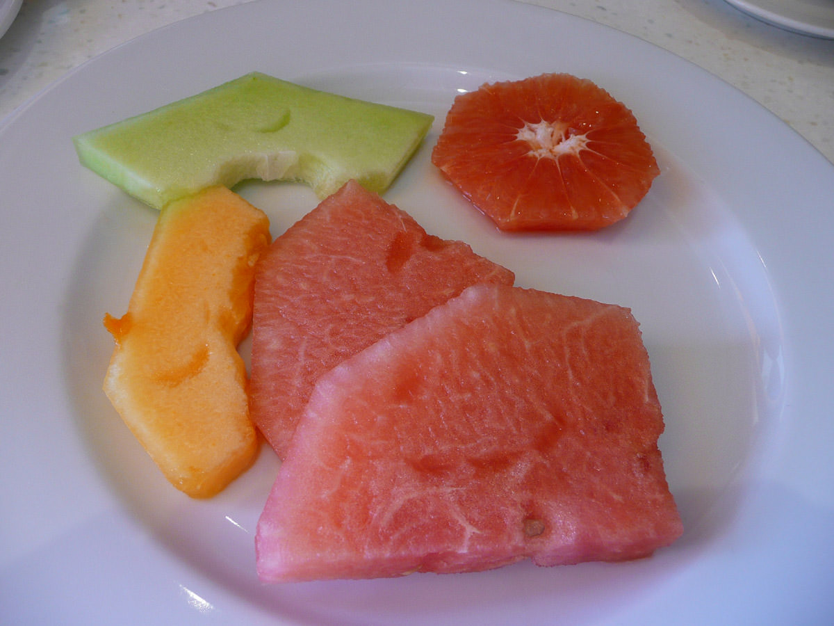 Melons and grapefruit