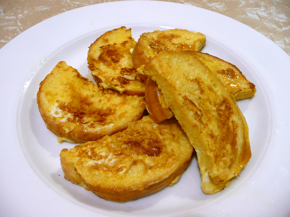 French toast with a little maple syrup