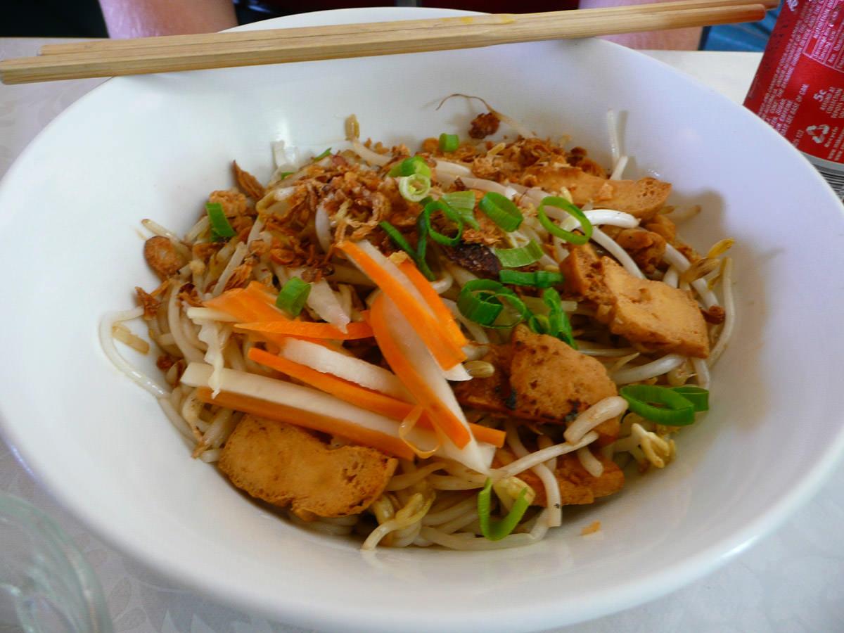 Golden tofu vermicelli