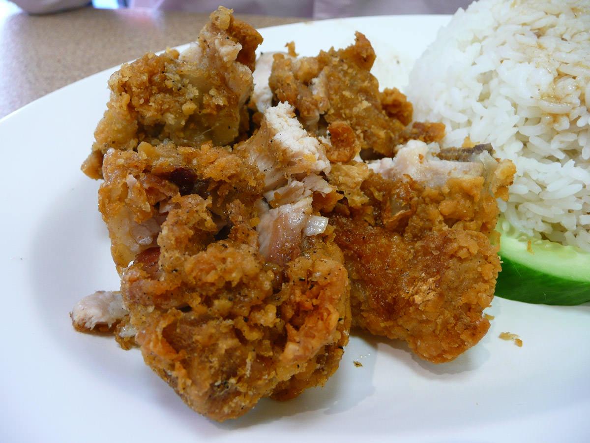 Crispy chicken close-up