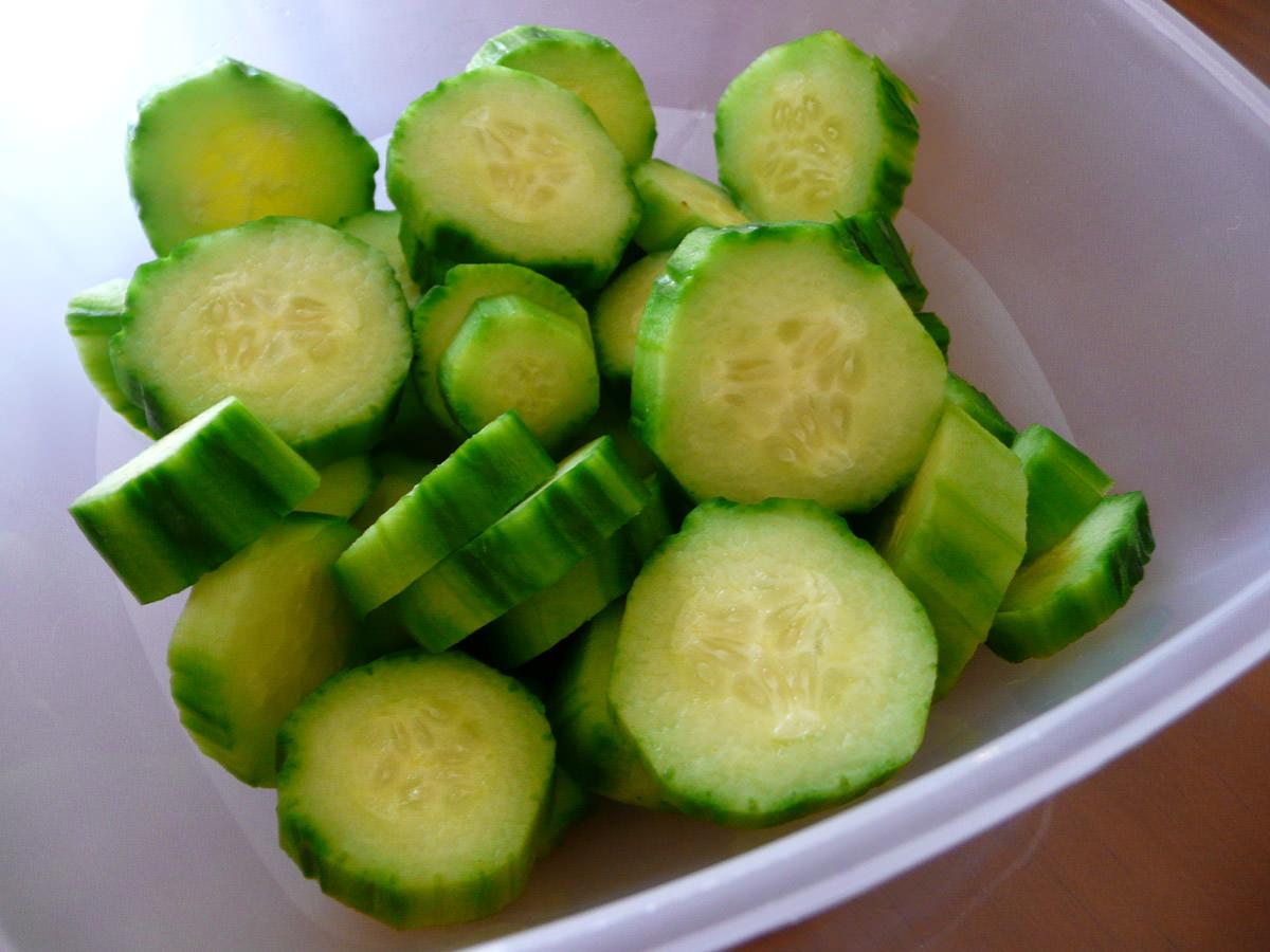 Cucumber for nasi lemak