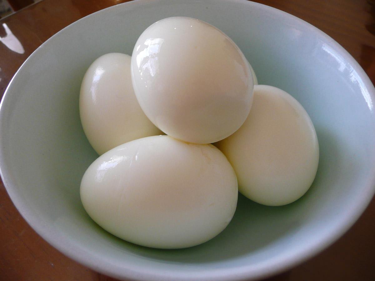 Hard-boiled eggs for nasi lemak