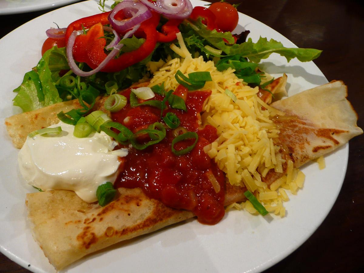 Chicken Mexicana crepes