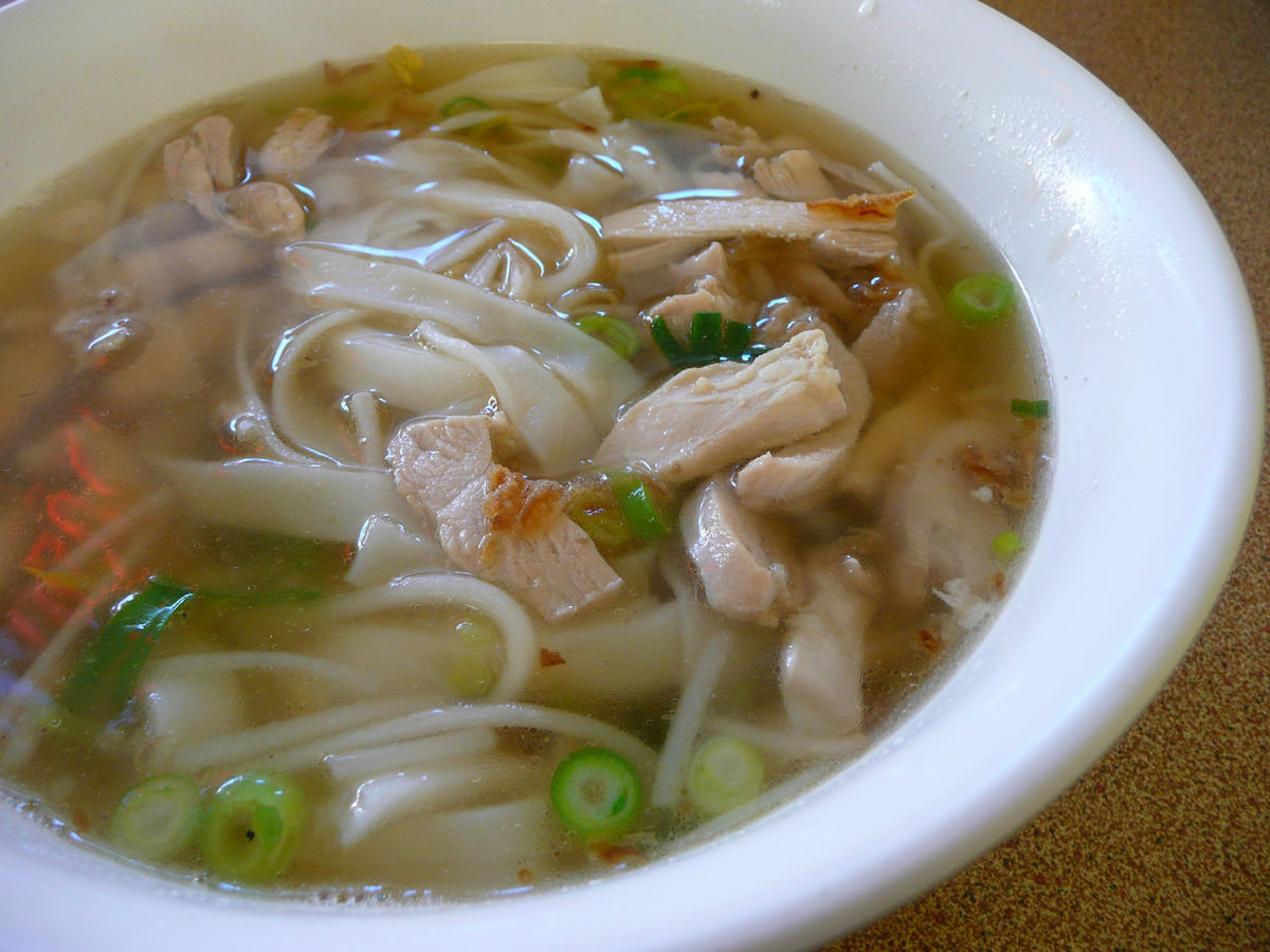 Stewed chicken noodles (soup style)