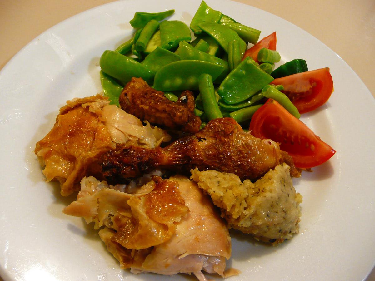 BBQ chook with salad