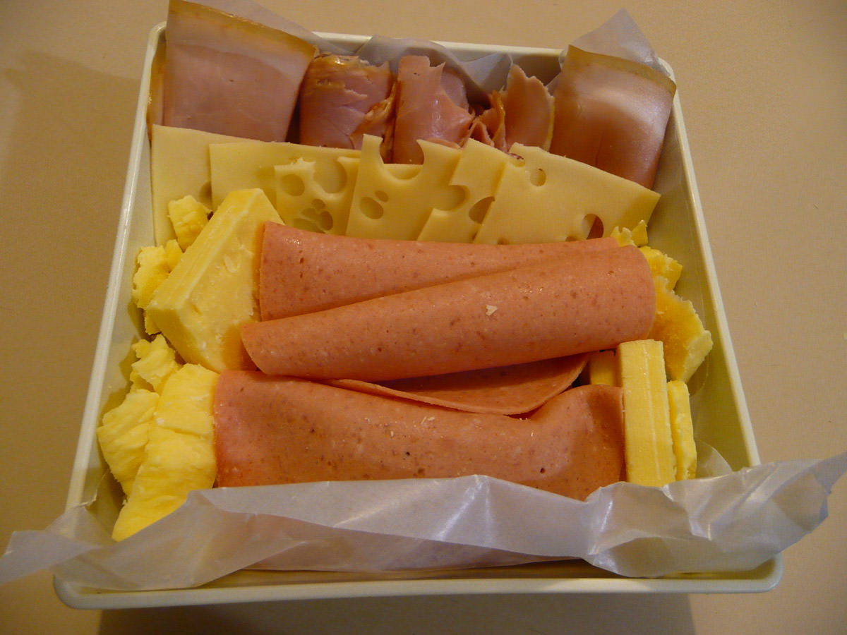 Cold meats and cheese